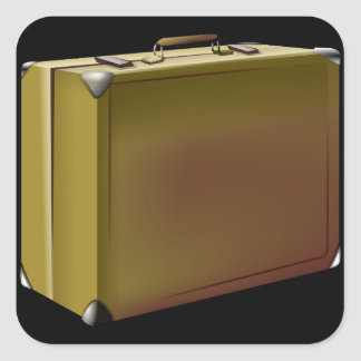 ¡Se embala mi maleta! Pegatina Cuadrada