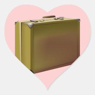 ¡Se embala mi maleta! Pegatina En Forma De Corazón