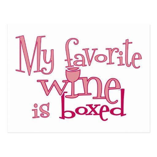 Se encajona mi vino preferido postales
