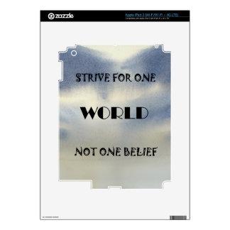Se esfuerza para un mundo no una creencia iPad 3 skin
