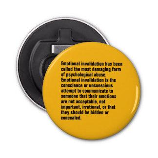 Se ha llamado la anulación emocional… abrebotellas redondo