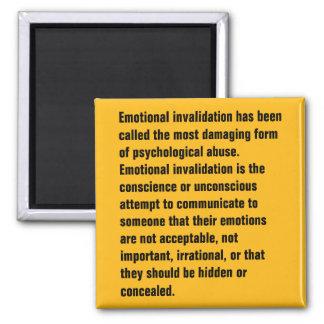 Se ha llamado la anulación emocional… imán cuadrado