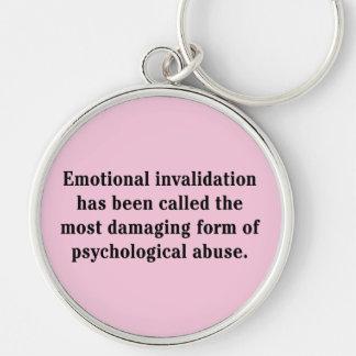 Se ha llamado la anulación emocional… llavero redondo plateado