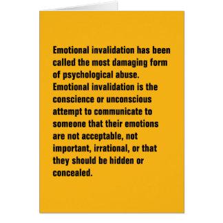 Se ha llamado la anulación emocional… tarjeta de felicitación