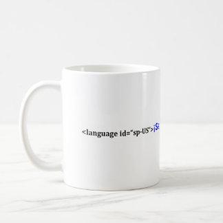 Se habla español xml coffee mug