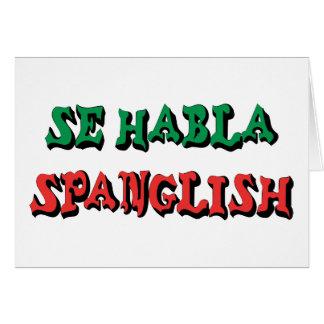 SE Habla Spanglish Tarjeta De Felicitación