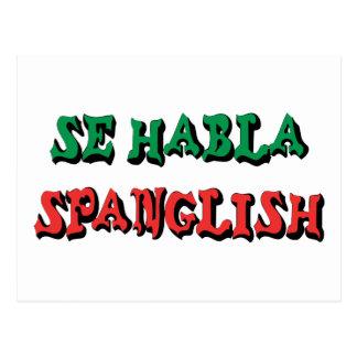 SE Habla Spanglish Postal