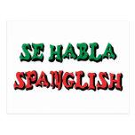SE Habla Spanglish Tarjetas Postales