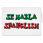 SE Habla Spanglish Tarjeton