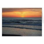 Se hace el día - la colección de la puesta del sol tarjeton