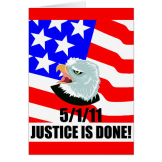 Se hace la justicia tarjeta de felicitación