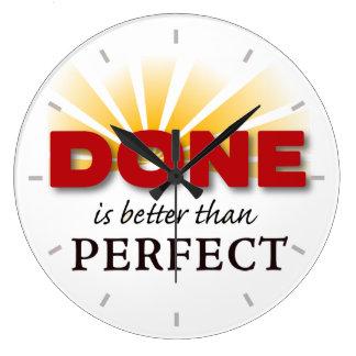 Se hace mejor que perfecto reloj redondo grande