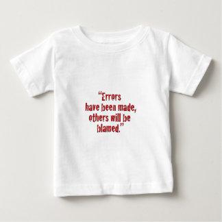 """Se han hecho los """"errores… camisas"""
