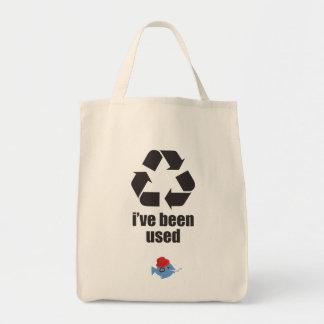 Se han utilizado CRAZYFISH me reciclan Bolsa Tela Para La Compra