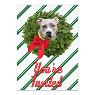 Se invita el verde de la guirnalda de Navidad de Invitación 12,7 X 17,8 Cm