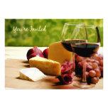 Se invita el vino del campo, queso y da fruto uste