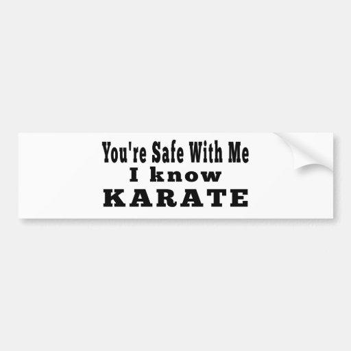 Sé karate etiqueta de parachoque