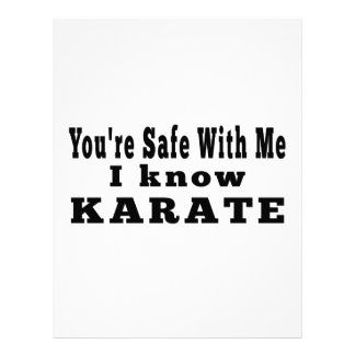 Sé karate plantilla de membrete
