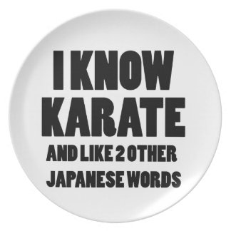 Sé karate platos de comidas
