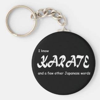 Sé karate y otras palabras del japonés. Divertido Llavero Redondo Tipo Pin