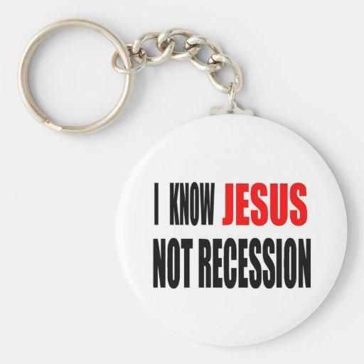 SÉ LA CAMISETA DE LA RECESIÓN DE JESÚS NO LLAVERO PERSONALIZADO