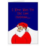 Sé lo que usted duró la tarjeta de Navidad