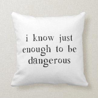 Sé lo suficiente para ser peligroso cojin