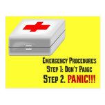 Sé los primeros auxilios y puedo responder a su em tarjeta postal
