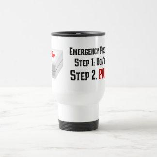 Sé los primeros auxilios y puedo responder a su em taza de café