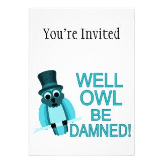 ¡Se maldiga el búho bien Invitación