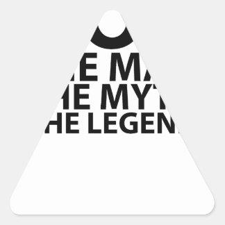 se menea el hombre el mito la leyenda tees.png pegatina triangular