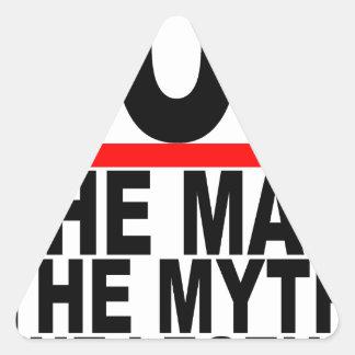 se menea el hombre el mito que la leyenda junta pegatina triangular