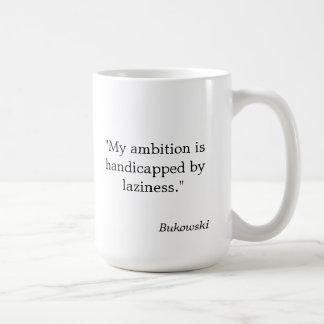 """Se perjudica la taza de la cita de Bukowski """"mi am"""