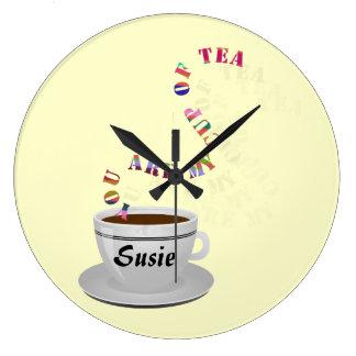 Se personaliza le mi taza de reloj de pared del té