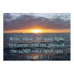 Se presenta el brillo - de Isaías del 60:1 de la Tarjeta De Visita