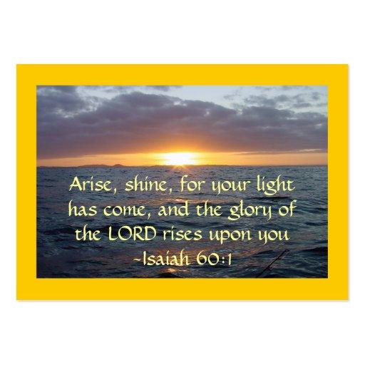 Se presenta el brillo - de Isaías del 60:1 de la Tarjetas De Visita