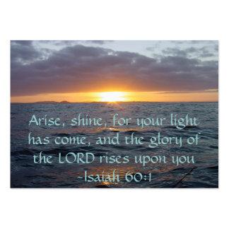 Se presenta el brillo - de Isaías del 60:1 de la Tarjetas De Visita Grandes