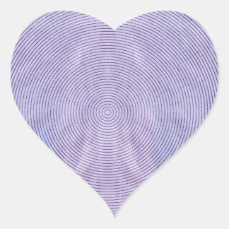 Se presenta el extracto de la longitud de onda por pegatina en forma de corazón