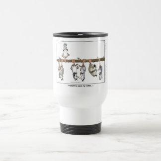 """""""Sé que él robó taza del viaje de mi café"""""""