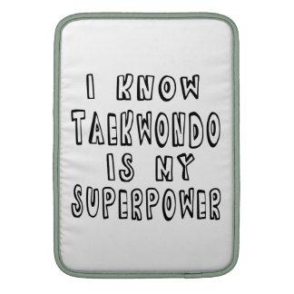 Sé que el Taekwondo es mi superpotencia Fundas Para Macbook Air