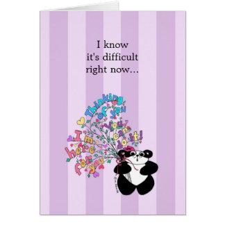 Sé que es ahora - estímulo difícil tarjeta de felicitación