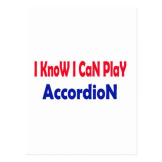 Sé que puedo jugar el acordeón postales