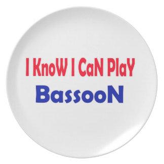 Sé que puedo jugar el Bassoon. Platos Para Fiestas