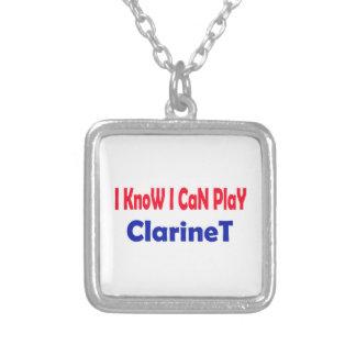Sé que puedo jugar el clarinet. collar personalizado