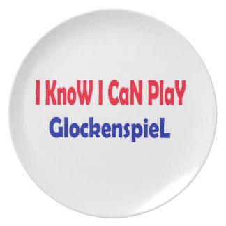 Sé que puedo jugar el Glockenspiel. Plato De Cena