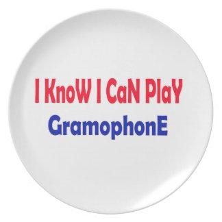 Sé que puedo jugar el gramófono plato de cena
