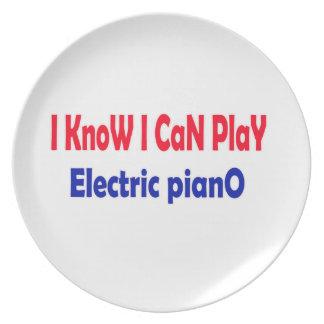 Sé que puedo jugar el piano eléctrico platos
