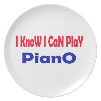 Sé que puedo jugar el piano platos para fiestas