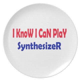 Sé que puedo jugar el sintetizador plato de comida
