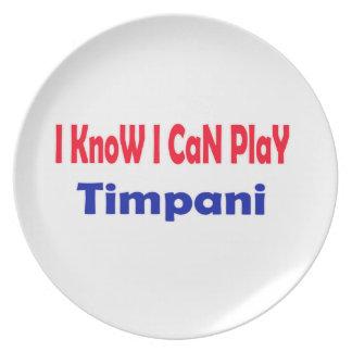 Sé que puedo jugar el Timpani. Platos